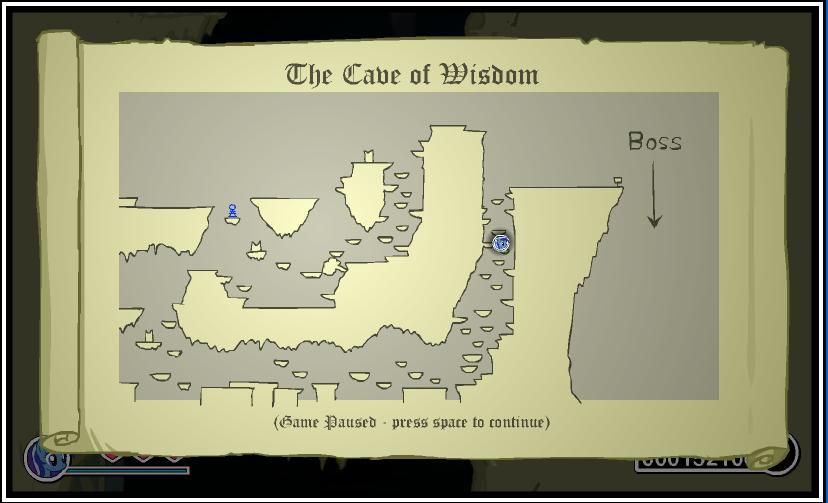 Некоторая часть карты уровня