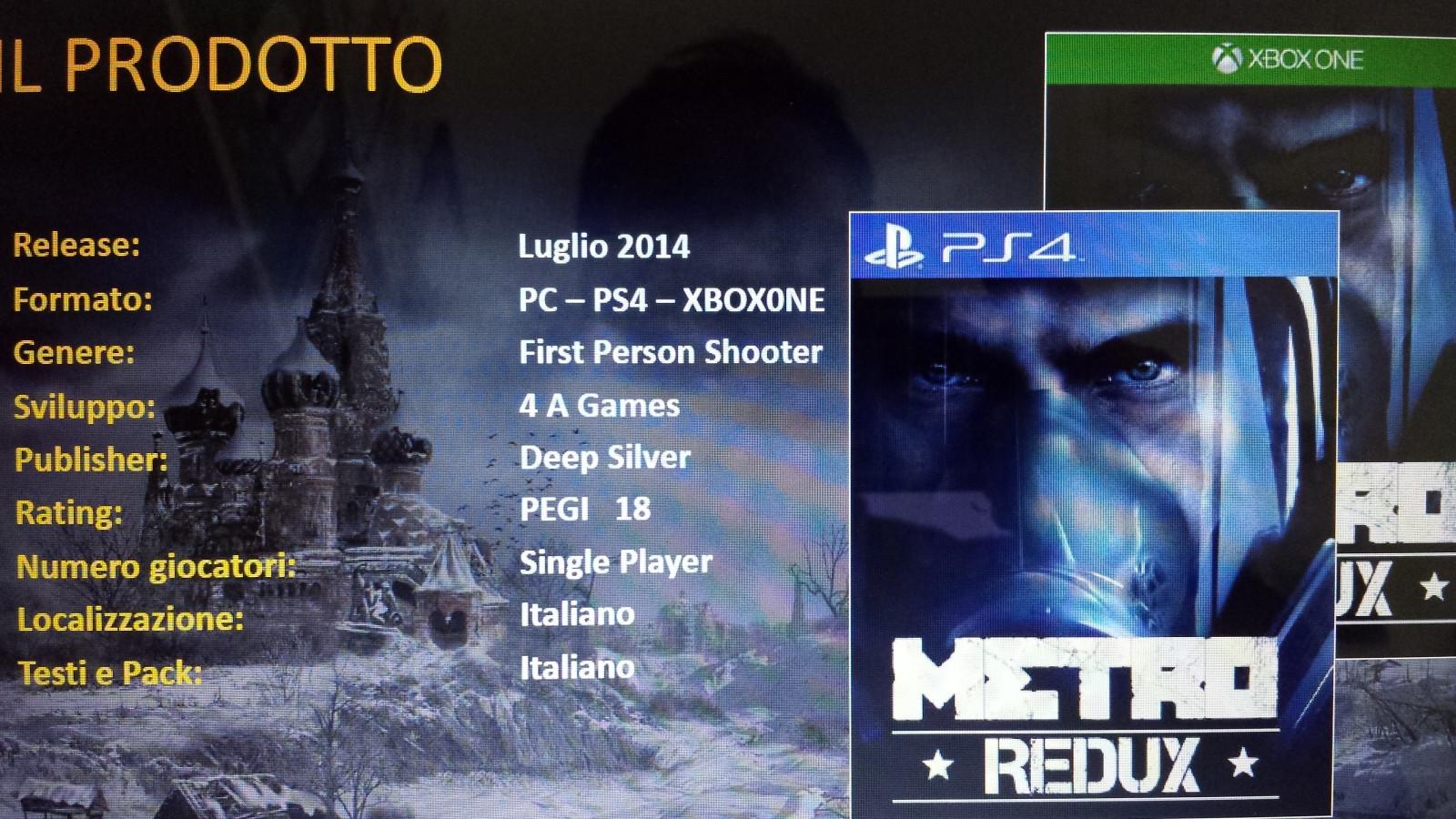 Слух: Metro Redux (Metro 2033+Metro Last Light+DLC) на PS4/XB1/PC